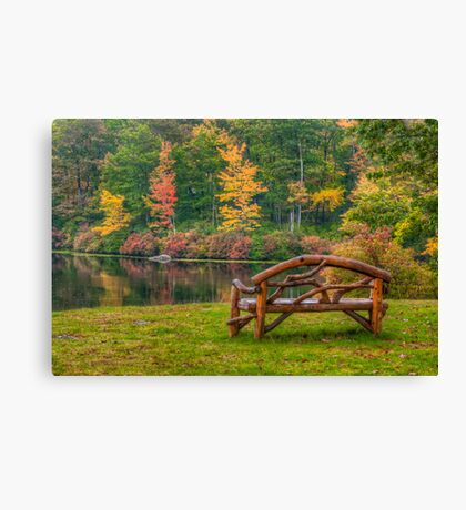 Park Bench With a View  Canvas Print