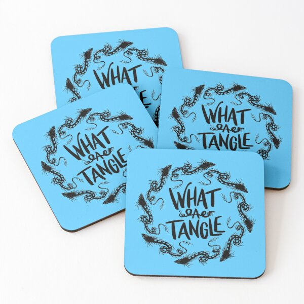 What a tangle Coasters (Set of 4)