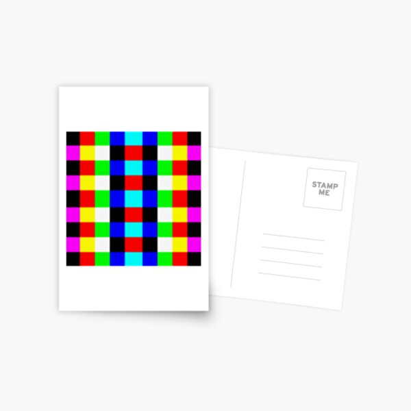 Colors, Graphic design, Field of study Postcard