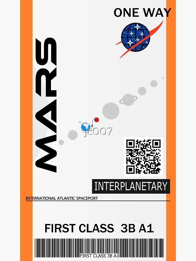 «Billet spatial Mars» par jc007
