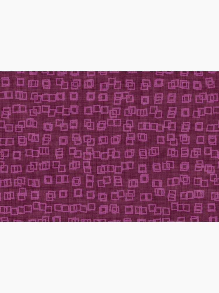 Dark Raspberry Pink Abstract Checkered Blocks Tiles Pattern by RootSquare