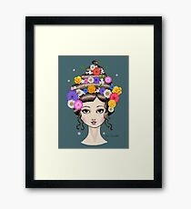 Floral She Framed Print