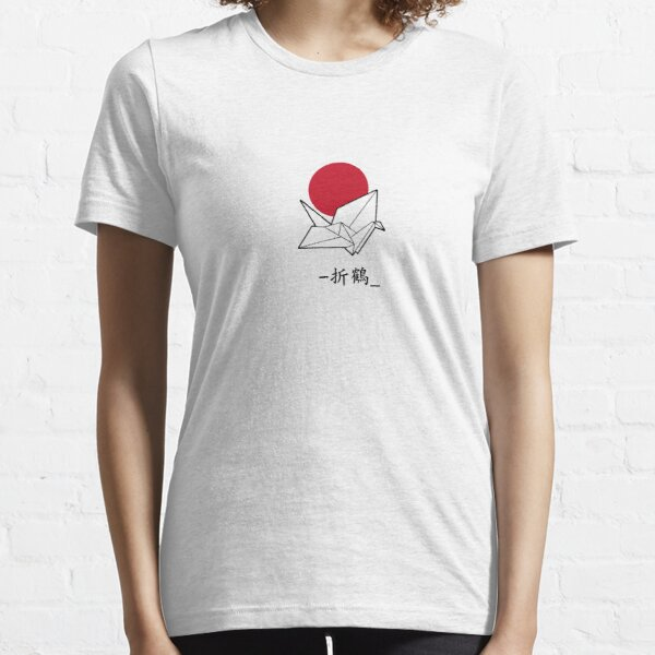 Crane Origami - Japan Bird Shirt Cool Cute Graphics Tee Womans Mens Travel Japanese Birds Paper Gift Essential T-Shirt