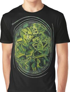 A Skeleton Embracing A Zombie Halloween Horror Graphic T-Shirt