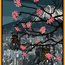 Robots and Cherry Blossom by Malkman