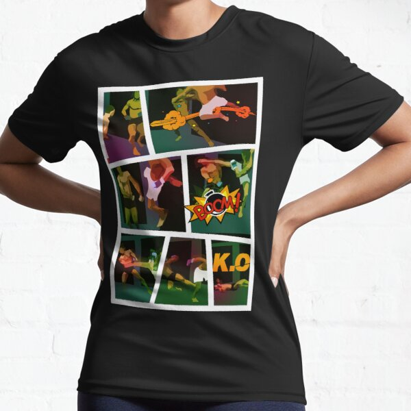 Flying Off The Fence Kick - Mixed Martial Arts - Awesome Comic Active T-Shirt