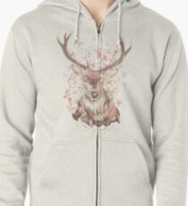 Stag of my Dreams Zipped Hoodie