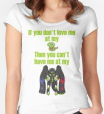 Zygarde - If you don't love me at my Core Fitted Scoop T-Shirt