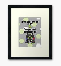 Zygarde - If you don't love me at my Core Framed Print