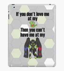 Zygarde - If you don't love me at my Core iPad Case/Skin