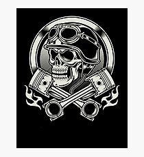 Awesome Biker skull Photographic Print