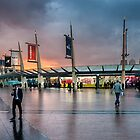 Storm clouds gathering over North Greenwich Peninsula by JzaPhotography