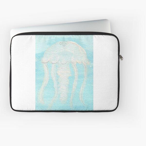 White Jellyfish | Watercolor Laptop Sleeve