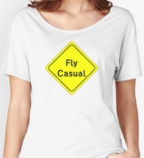 Fly Casual Sign Women's Relaxed Fit T-Shirt