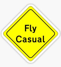 Fly Casual Sign Sticker