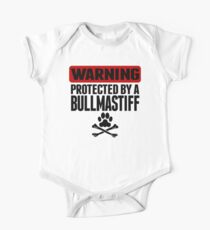 Warning Protected By A Bullmastiff One Piece - Short Sleeve
