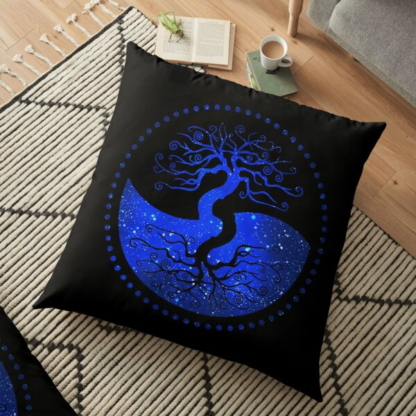 Star Sky Tree of Life - The Principle of Correspondence Floor Pillow