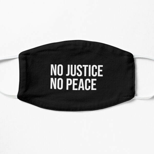 Pas de justice pas de paix Masque sans plis