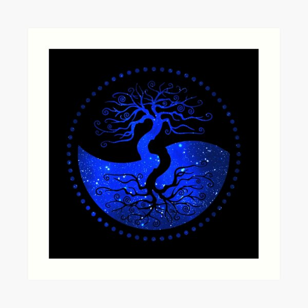 Star Sky Tree of Life - The Principle of Correspondence Art Print