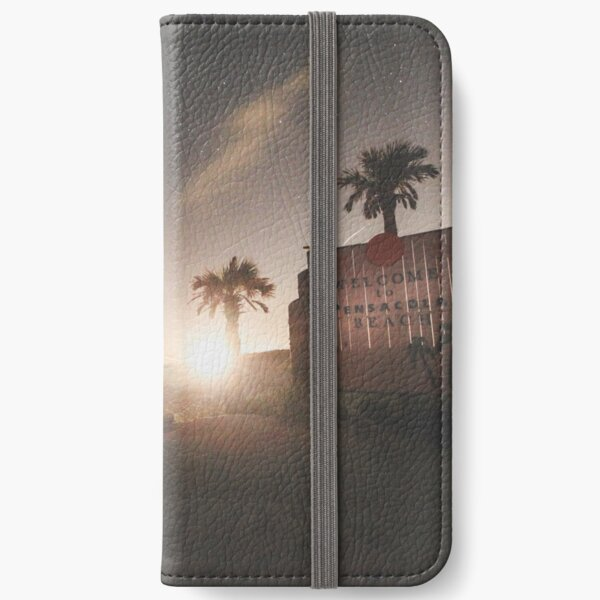 Welcome to Pensacola Beach at Night iPhone Wallet