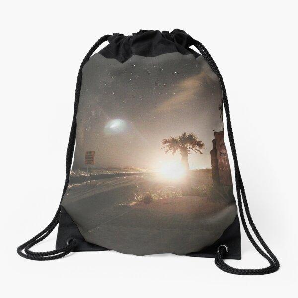 Welcome to Pensacola Beach at Night Drawstring Bag