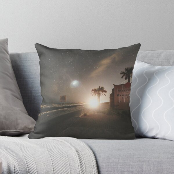 Welcome to Pensacola Beach at Night Throw Pillow