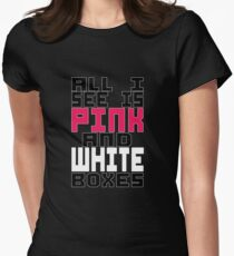 Roller Derby NSO - Pink and White Boxes! Womens Fitted T-Shirt