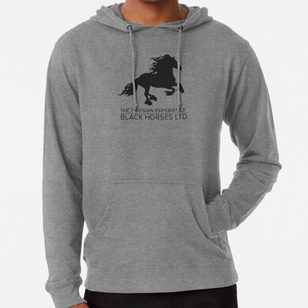 The Friesian Experience - Beautiful Black Beauty Friesian Horses Lightweight Hoodie