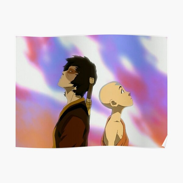 Zuko and Aang Dragon Dance- Avatar the Last Airbender Poster