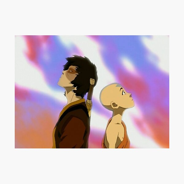 Zuko and Aang Dragon Dance- Avatar the Last Airbender Photographic Print