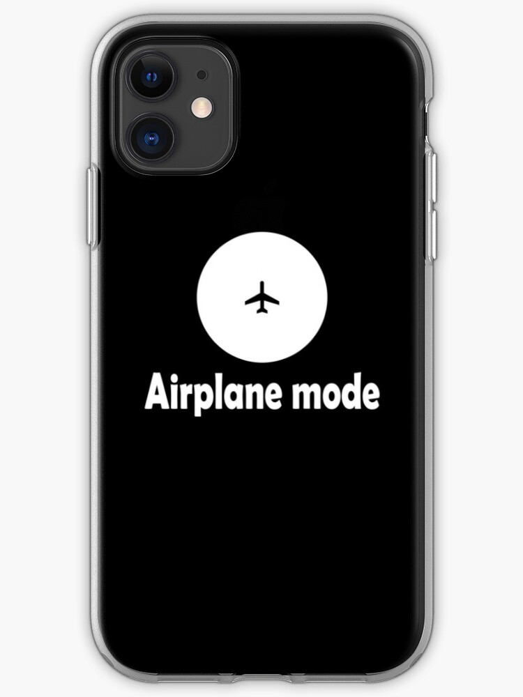 Airplane Mode With Icon In White Airplane Mode Travel Aviation Mode Wifi Mode Http Workshop5 Redbubble Com Iphone Case Cover By Workshop5 Redbubble