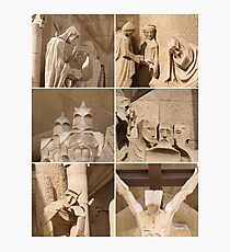 Barcelona - Sagrada Familia Sculptures Photographic Print