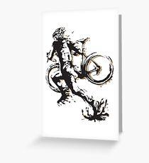 Cyclocross mud Greeting Card