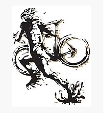 Cyclocross mud Photographic Print