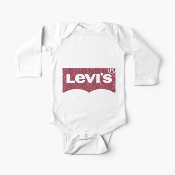 Levi's R Red glitter seamless Long Sleeve Baby One-Piece