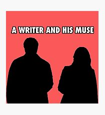 A writer and his muse Photographic Print