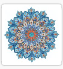 Coloring: An indian motive, Mandala  Sticker