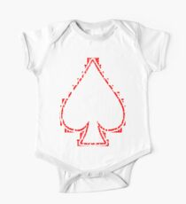 Ace Of Spades - White and Red Kids Clothes