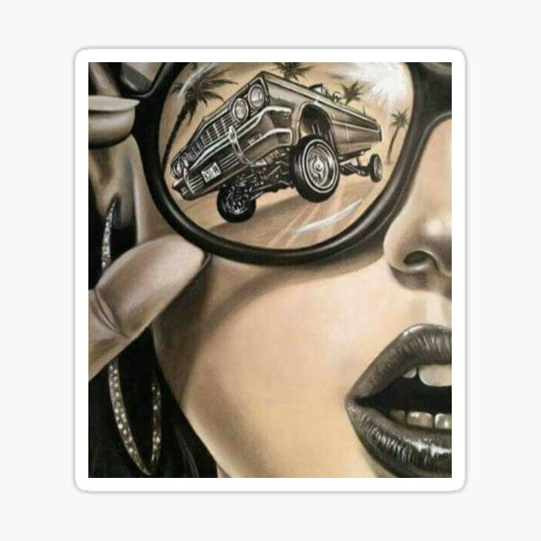 Cool Latin art and Lowrider! Sticker