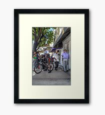 Daily Life on Bay Street in Downtown Nassau, The Bahamas Framed Print