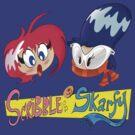 Scribble & Skarfy Logo by colaleo