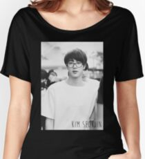 BTS/Bangtan Sonyeondan - Black & White Jin Women's Relaxed Fit T-Shirt