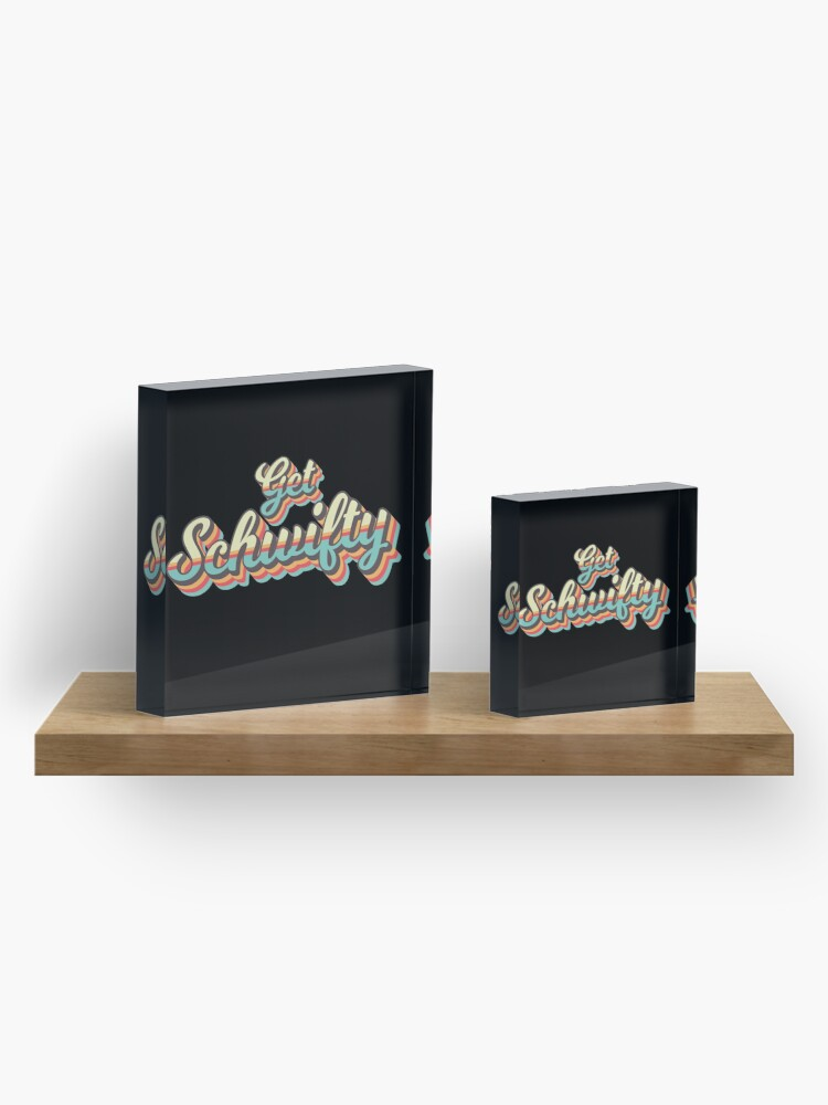 Alternate view of Get Schwifty from Rick and Morty ™ Retro 70s Letters Acrylic Block