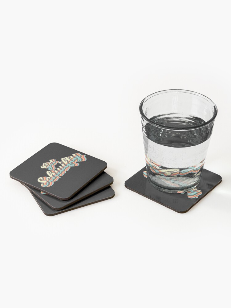 Alternate view of Get Schwifty from Rick and Morty ™ Retro 70s Letters Coasters (Set of 4)