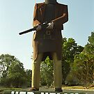 Ned Kelly visiting Tinana, Queensland by Bev Pascoe