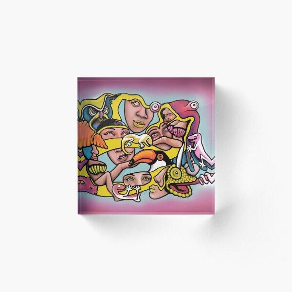 Chaotic Jungle Acrylic Block