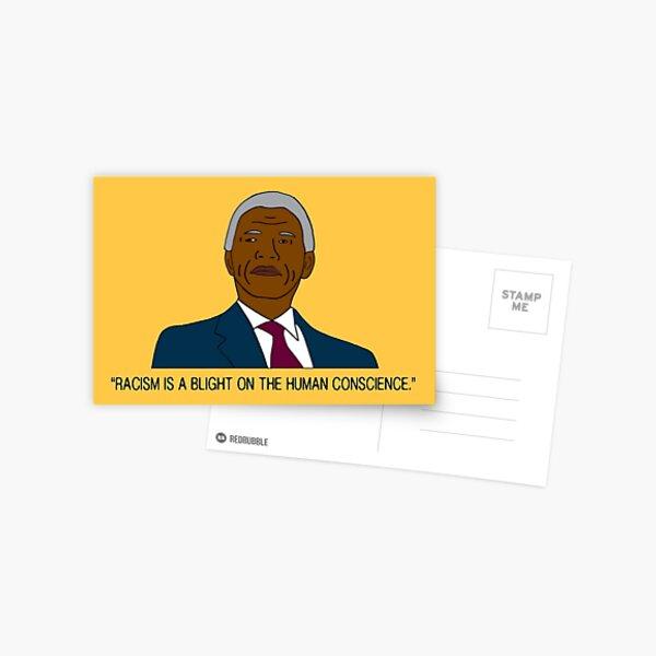 Yellow Nelson Mandela Racism Black Lives Matter Quote Postcard