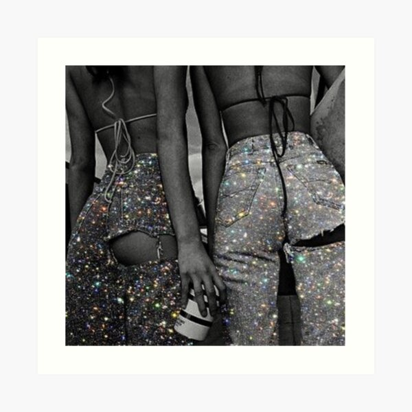 glitter bottom jeans Art Print