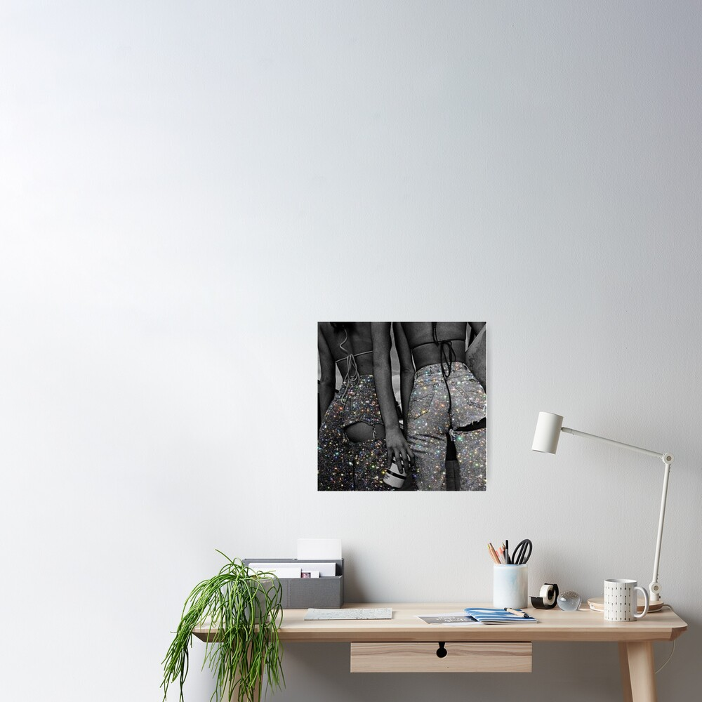 Glitzer-Jeans Poster