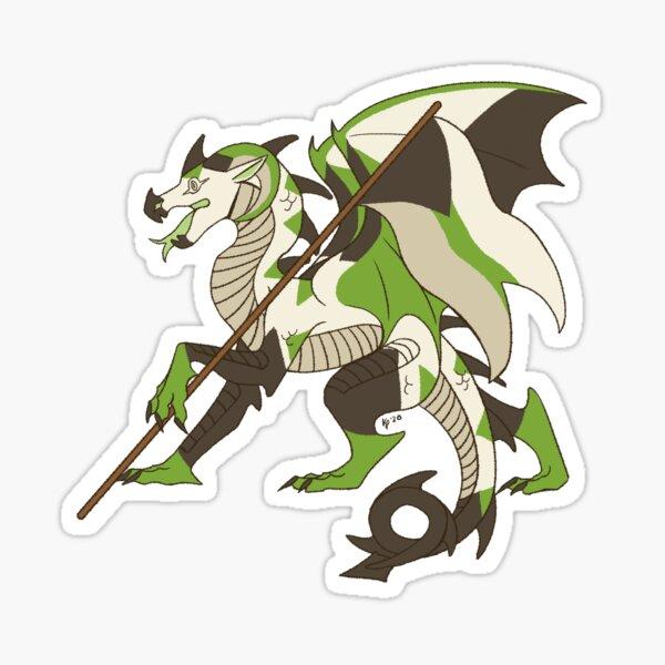 Demiromantic Pride Flag Dragon (4th Edition) Sticker